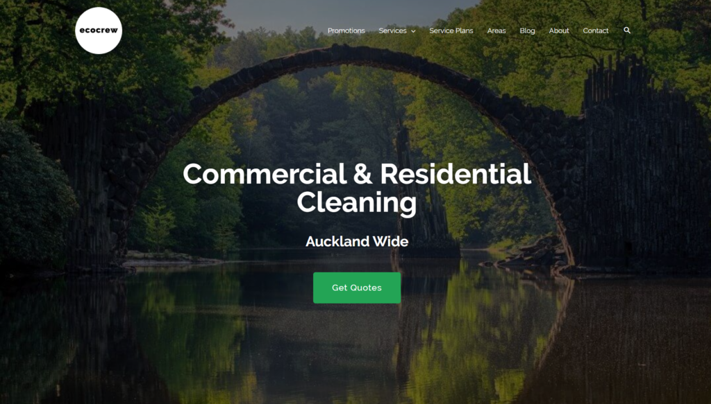 ecocrew commercial cleaning hnc digital portfolio project